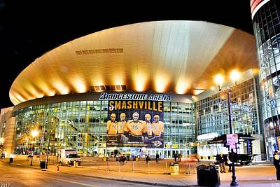 Poster featuring the photograph Bridgestone Arena by Lisa Wooten