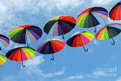Bright Colorful Umbrellas  Poster