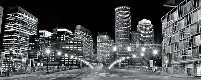 Bright Lights Lead Into Boston Poster by Frozen in Time Fine Art Photography