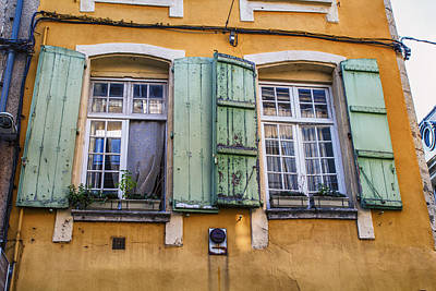 Bright Mediterranean Windows Poster