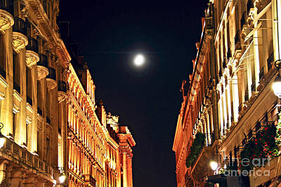 Bright Moon In Paris Poster
