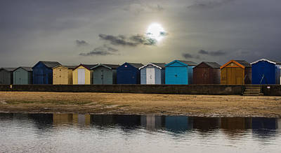 Brightlingsea Beach Huts Poster by Martin Newman
