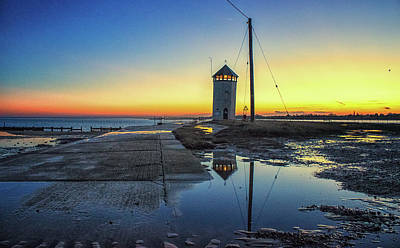 Brightlingsea Sunset Poster by Martin Newman