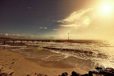 Poster featuring the photograph Brighton Beach Pier by Douglas Barnard