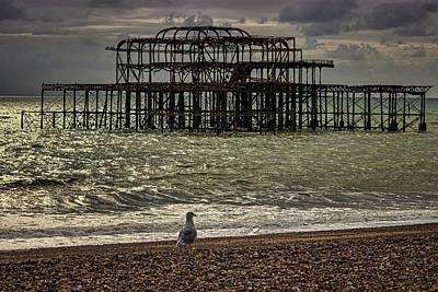 Brighton Pier Poster by Martin Newman