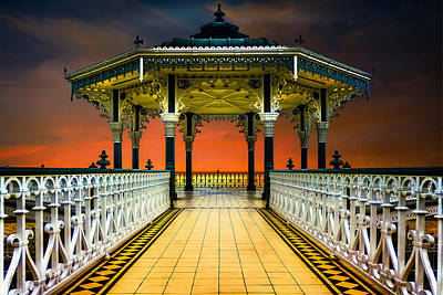Poster featuring the photograph Brighton's Promenade Bandstand by Chris Lord
