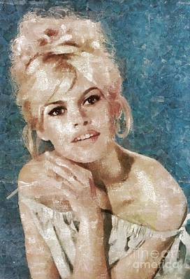 Brigitte Bardot, Actress Poster by Mary Bassett