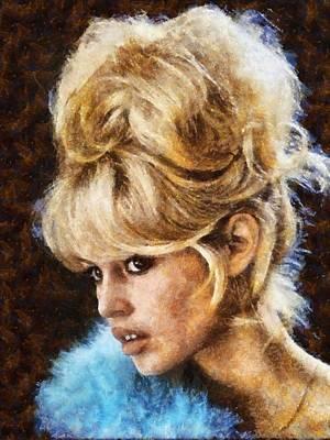 Brigitte Bardot Hollywood Actress Poster