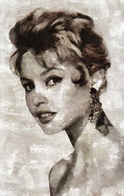 Brigitte Bardot Hollywood Actress Poster by Mary Bassett