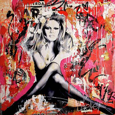 Brigitte Bardot Is In St-tropez Again Poster by Michiel Folkers