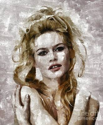 Brigitte Bardot, Vintage Actress Poster by Mary Bassett