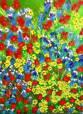 Brilliant Florals Poster by George Riney