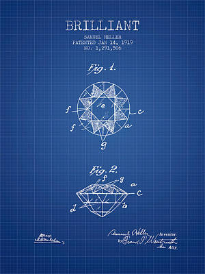 Brilliant Patent From 1919 - Blueprint Poster