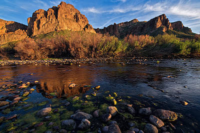 Poster featuring the photograph Brilliant Salt River Colors At Sunset by Dave Dilli