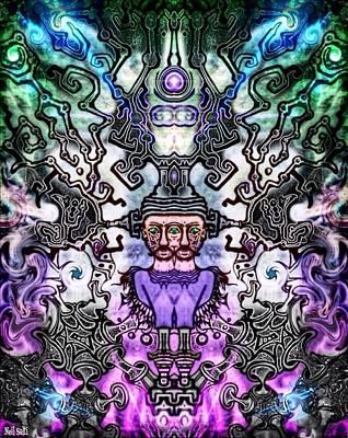 Brain Massage  Poster by Neil Salti