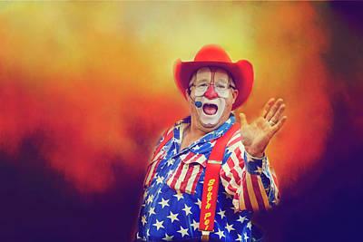 Bringing Fun To The Rodeo Greek Ellick Jr.  Poster by Toni Hopper