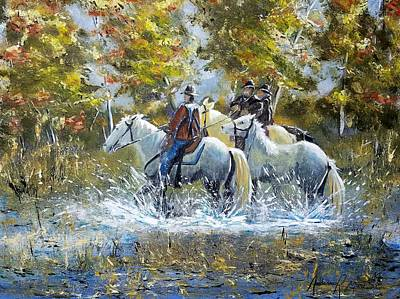Bringing Home The Mare Poster by Anderson R Moore