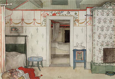 Brita's Forty Winks Poster by Carl Larsson