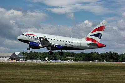 Poster featuring the photograph British Airways Airbus A318-112 G-eunb by Tim Beach