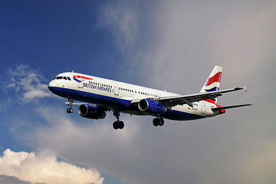 British Airways Airbus A321-231 Poster