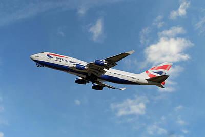 British Airways Boeing 747-400 Poster
