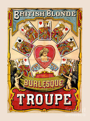 British Blonde Burlesque Troupe Poster