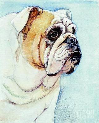 British Bulldog Poster by Morgan Fitzsimons