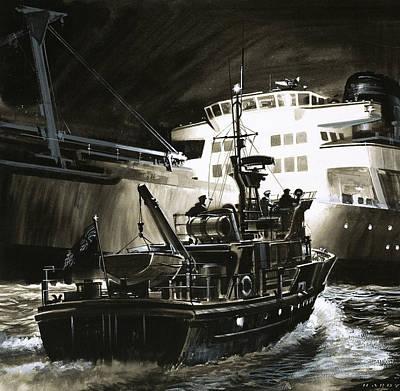 British Coastguard Patrol  Poster by Wilf Hardy