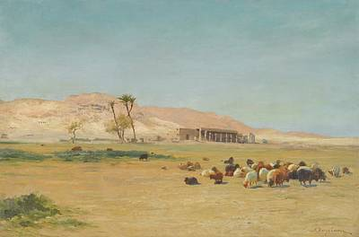 British Egyptian Landscape Poster by Joseph Farquharson