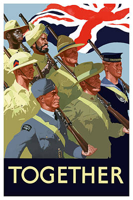 British Empire Soldiers Together Poster