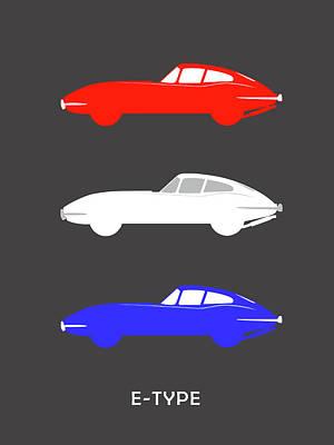 British Icon - Jaguar E Type Poster