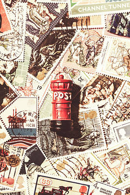 Poster featuring the photograph British Post Box by Jorgo Photography - Wall Art Gallery