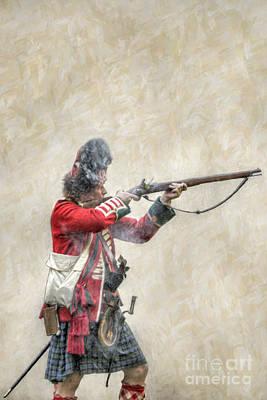 British Soldier Firing Musket Poster