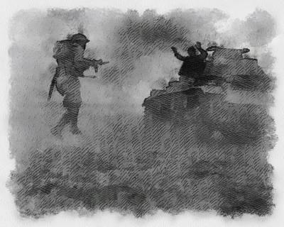 British Soldier In Western Desert Wwii Poster