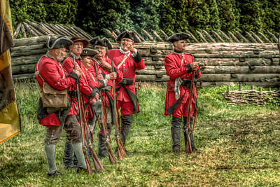 British Soldiers At Fort Ligonier Poster