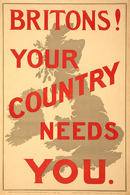 Britons Neded Poster by Richard Reeve