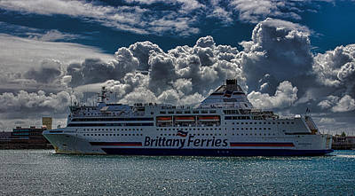 Brittany Ferry Poster by Martin Newman