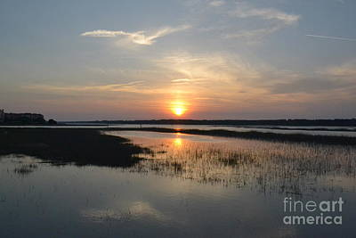 Poster featuring the photograph Broad Creek Sunset by Carol  Bradley