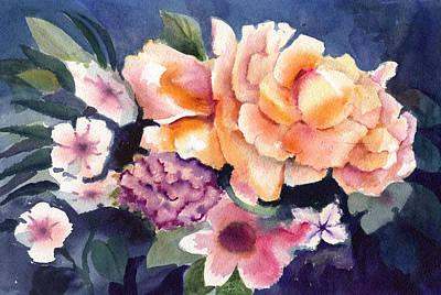 Brocade Flowers Poster