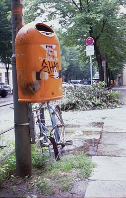 Broken Bike In Berlin Poster