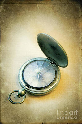 Broken Pocket Watch Poster by Jill Battaglia