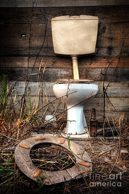 Wasted Poster featuring the photograph Broken Toilet by Carlos Caetano