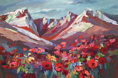 Broken Top Wildflowers Poster