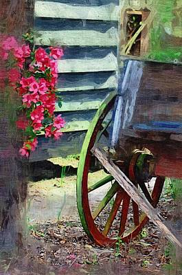 Poster featuring the photograph Broken Wagon by Donna Bentley