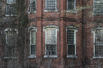 Poster featuring the photograph Broken Windows On Abandoned Building by Kim Hojnacki