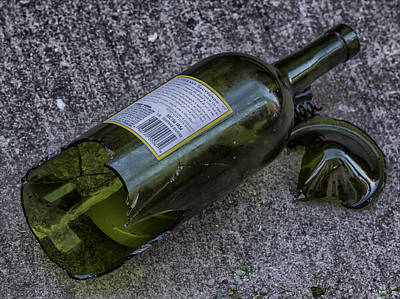 Broken Wine Bottle  Poster