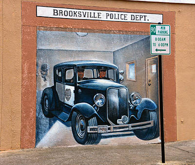 Brooksville Police Dept Mural Poster by David Lee Thompson