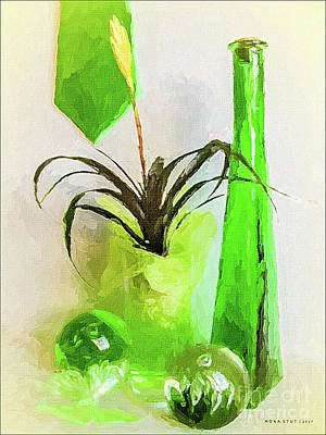 Bromeliad In Shades Of Green Poster