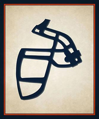 Broncos Face Mask Poster