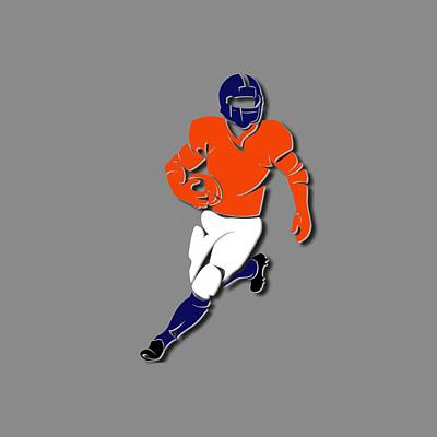 Broncos Player Shirt Poster by Joe Hamilton